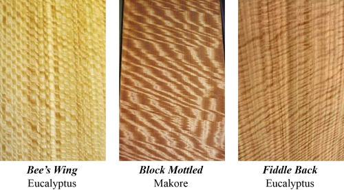 Veneer sliced parallel to a radius is called quarter cut. Grain pattern will usually be fairly straight or have slight curves. Figure can be strong in quartered veneer.7