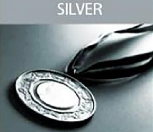 a silver metal